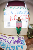 Maria Rodriguez, a surgical nurse of the Hospital La Princesa, against the privatization of the public health in Spain