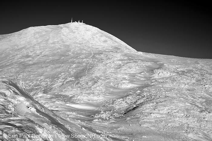 Appalachian Trail - Mount Washington from Mount Monroe during the winter months in the White Mountains, New Hampshire USA