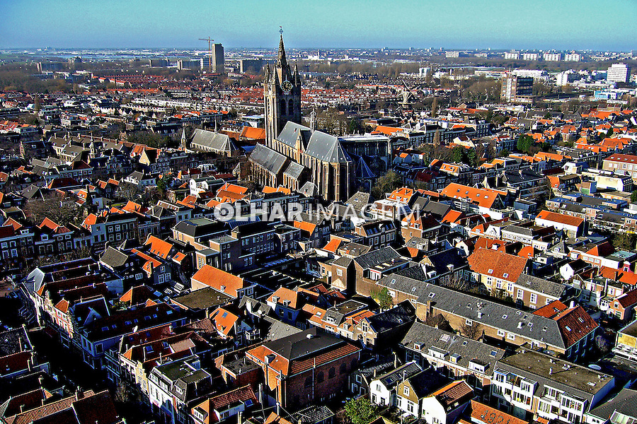Vista aérea da cidade de Delft. Holanda. 2007. Foto de Marcio Nel Cimatti.