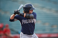 Chandler Seagle (11), of the AZL Padres 1, at bat during an Arizona League game against the AZL Angels on August 5, 2019 at Tempe Diablo Stadium in Tempe, Arizona. AZL Padres 1 defeated the AZL Angels 5-0. (Zachary Lucy/Four Seam Images)