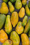 Papayas in the market
