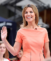 August 15, 2012 Savannah Guthrie host of NBC's Today Show Toyota Concert Series at Rockefeller Center in New York City..Credit:&copy; RW/MediaPunch Inc. /NortePhoto.com<br />