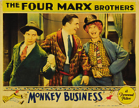 Monkey Business (1931) <br /> Lobby card with Rockliffe Fellows, Chico Marx &amp; Harpo Marx<br /> *Filmstill - Editorial Use Only*<br /> CAP/KFS<br /> Image supplied by Capital Pictures
