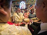 60th anniversary of the consecration of St. John the Baptist Serbian Orthodox Cathedral, San Francisco, Calif.<br /> <br /> Blessing of the kolach by Bishop Maxim and Bishop Longin