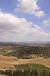 Israel, Shephelah, a view of Haela valley and Road 38 from Tel Azekah