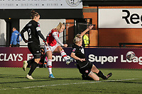 Beth Mead of Arsenal goes close to a goal during Arsenal Women vs Bristol City Women, Barclays FA Women's Super League Football at Meadow Park on 1st December 2019