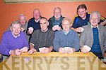 Pictured at the Spa GAA 31 card drive in Darby O'Gills, KIllarney  on Friday night were Paddy O'Keeffe, Ted O'Sullivan, JOhn O'Sullivan, Tom Randles, John Sweeney, Frank Sugrue, Tom Doolan and Tom O'Sullivan.