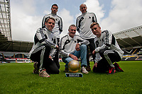 Wednesday  15  May  2013<br /> <br /> Pictured:<br /> Re: Swansea City FC Groundsmen pictured at the Liberty sataium after wining Barclays Groundsmen of the Year