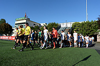 Seattle, WA - Friday June 23, 2017: Opening ceremonies during a regular season National Women's Soccer League  (NWSL) match between the Seattle Reign FC and FC Kansas City at Memorial Stadium.