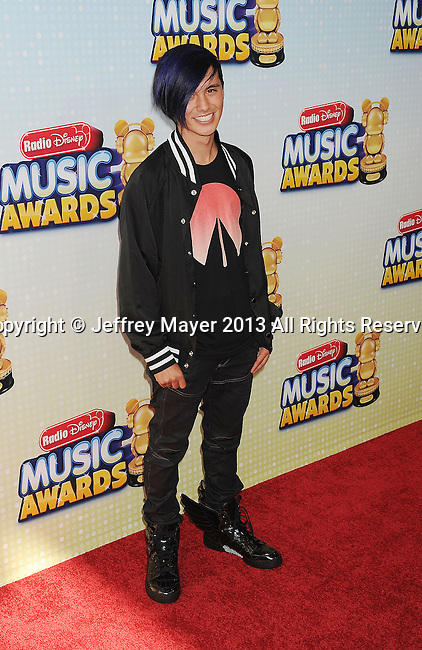 LOS ANGELES, CA- APRIL 27: DJ Cole Plante arrives at the 2013 Radio Disney Music Awards at Nokia Theatre L.A. Live on April 27, 2013 in Los Angeles, California.