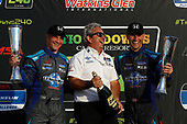 #73 LA Honda World Racing Honda Civic TCR, TCR: Mike LaMarra, Mat Pombo, podium, Owner Luis Perocarpi