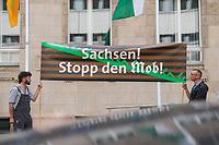 2018/08/31 Politik | Saechsische Landesvertretung | Kundgebung wegen Chemnitz