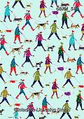 Kate, GIFT WRAPS, GESCHENKPAPIER, PAPEL DE REGALO, Christmas Santa, Snowman, Weihnachtsmänner, Schneemänner, Papá Noel, muñecos de nieve, paintings+++++Walkers in snow.,GBKM584,#gp#,#x#