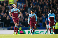 Declan Rice of West Ham United looks dejected after his side concede their first goal to make the score 1-0 during the Premier League match between Everton and West Ham United at Goodison Park on October 19th 2019 in Liverpool, England. (Photo by Daniel Chesterton/phcimages.com)<br /> Foto PHC/Insidefoto <br /> ITALY ONLY