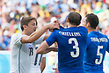 Gaston Ramirez (URU), Giorgio Chiellini (ITA), JUNE 24, 2014 - Football / Soccer : Giorgio Chiellini of Italy shows his shoulder after clashing with Luis Suarez of Uruguay during the FIFA World Cup Brazil 2014 Group D match between Italy 0-1 Uruguay at Estadio das Dunas in Natal, Brazil. (Photo by Maurizio Borsari/AFLO)