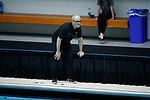 INDIANAPOLIS, IN - MAY 14: Head coach John Tanner of Stanford University looks on during the Division I Women's Water Polo Championship held at the IU Natatorium-IUPUI Campus on May 14, 2017 in Indianapolis, Indiana. Stanford edges UCLA, 8-7, to win fifth women's water polo title in the past seven years. (Photo by Joe Robbins/NCAA Photos/NCAA Photos via Getty Images)