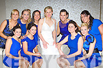 Scruffy's St Pauls basketballer Mairead Finnegan, with her team mates who all dressed in blue for her wedding to Michael O'Donoghue in the Killarney Oaks Hotel on Friday front row l-r: Cassandra Buckley, Mags Cronin, Mairead Finegan, Muiríosa Galwey, Emer Buckley. Back row: Lynn Jones, Carolyn O'Mahony, Marian O'Callaghan, Catriona Gogarty and Sinead O'Connell.
