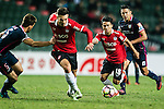 Muangthong United Midfielder Chanathip Songkrasin (r) during an attack of Muangthong during the 2017 Lunar New Year Cup match between SC Kitchee (HKG) vs Muangthong United (THA) on January 28, 2017 in Hong Kong, Hong Kong. Photo by Marcio Rodrigo Machado/Power Sport Images