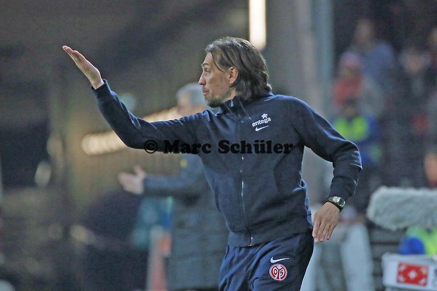 Trainer  Martin Schmidt (Mainz)  - 1. FSV Mainz 05 vs. Borussia Moenchengladbach, Coface Arena
