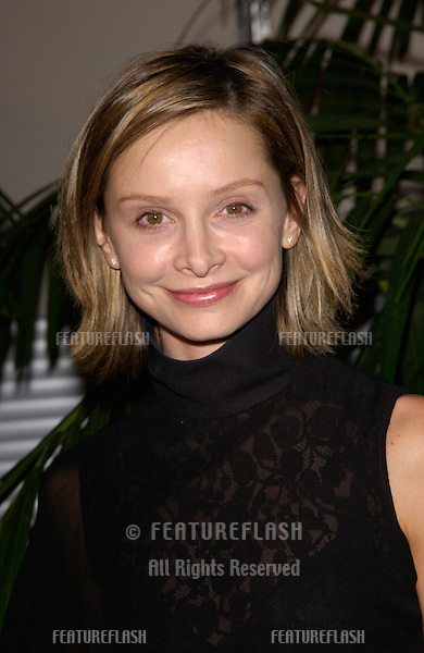Actress CALISTA FLOCKHART at Stars 2001 Gala honoring Jeffrey Katzenberg. The event also marked the grand opening of the new Hollywood & Highland entertainment complex..08NOV2001.  © Paul Smith/Featureflash