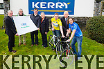 The Launch of Ras Mumhan at Kerry Group on Friday which starts Good Friday pictured l-r Tadgh Moriarty (press officer and race director Kerry group and Rás Mumhan),Dan Ahern (safety director Kerry Group Rás Mumhan),Rory Mcgillycuddy (commercial director Rás Munhan),Mary Concannon (race secretary Rás Munhan) Brendan Kilgallen (cyclist) Frank Hayes (Director of Corporate Affairs Kerry group) and Michéal O'Shea Killorglin cycling group