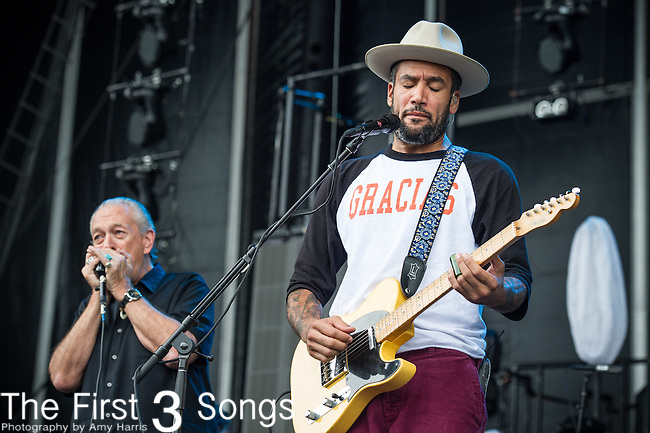 Ben Harper and Charlie Musselwhite perform during Day 3 of the 2013 Firefly Music Festival in Dover, Delaware.