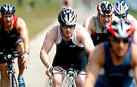 14 MAY 2010 - HOLME PIERREPONT, GBR - Simon Travell - VUE National Emergency Services Triathlon Championships .(PHOTO (C) NIGEL FARROW)