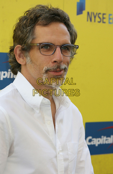 """BEN STILLER.""""Get Schooled"""" Los Angeles Conference & Premiere held at Paramount Studios in Hollywood, California, USA. .September 8th, 2009 .headshot portrait glasses goatee facial hair white shirt.CAP/ADM/MJ.©Michael Jade/AdMedia/Capital Pictures."""