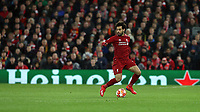 Liverpool's Mohamed Salah<br /> <br /> Photographer Rich Linley/CameraSport<br /> <br /> UEFA Champions League Round of 16 First Leg - Liverpool and Bayern Munich - Tuesday 19th February 2019 - Anfield - Liverpool<br />  <br /> World Copyright © 2018 CameraSport. All rights reserved. 43 Linden Ave. Countesthorpe. Leicester. England. LE8 5PG - Tel: +44 (0) 116 277 4147 - admin@camerasport.com - www.camerasport.com