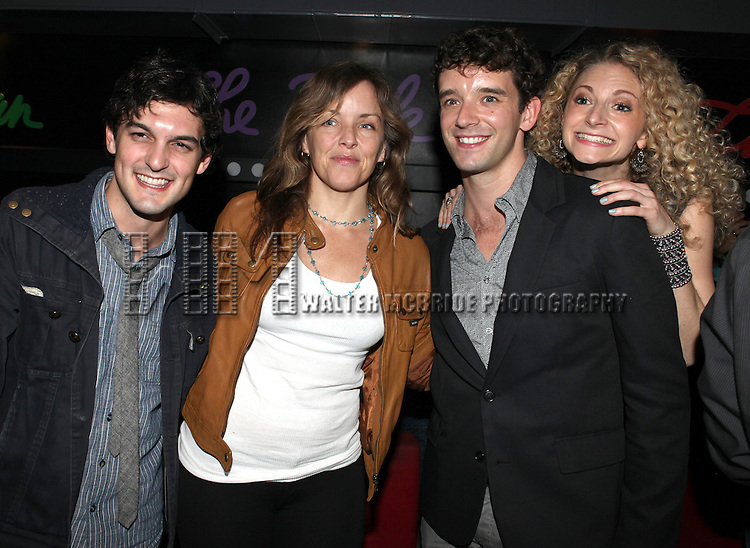 Wesley Taylor, Alice Ripley, Michael Urie and Lauren Molina attend the opening night performance reception for the Keen Company production of Marry Me A Little at the Clurman Theatre in New York City on10/2/2012.