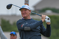 Ernie Els (RSA) watches his tee shot on 11 during Round 2 of the Valero Texas Open, AT&amp;T Oaks Course, TPC San Antonio, San Antonio, Texas, USA. 4/20/2018.<br /> Picture: Golffile | Ken Murray<br /> <br /> <br /> All photo usage must carry mandatory copyright credit (&copy; Golffile | Ken Murray)