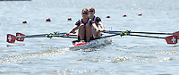 Brandenburg. GERMANY. SUI LW2X. Bow Frederique ROL and Patrica MERZ, at the start of their heat. <br /> 2016 European Rowing Championships at the Regattastrecke Beetzsee<br /> <br /> Friday  06/05/2016<br /> <br /> [Mandatory Credit; Peter SPURRIER/Intersport-images]