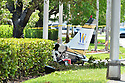 MIRAMAR, FL - MAY 12: A small Piper PA-34 plane that crashed is shown on May 12, 2020 in Miramar, Florida. The plane was seen flying low over an intersection before clipping a power line and crashing, killing the pilot, identified as 25-year-old Mark Daniel Scott, and leaving the flight instructor seriously injured. A third person on the ground was injured by debris.   ( Photo by Johnny Louis / jlnphotography.com )