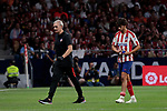 Atletico de Madrid's Joao Felix injured during La Liga match between Atletico de Madrid and Getafe CF at Wanda Metropolitano Stadium in Madrid, Spain. August 18, 2019. (ALTERPHOTOS/A. Perez Meca)