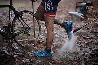 post-race shoe clean<br /> <br /> Superprestige Gavere 2014