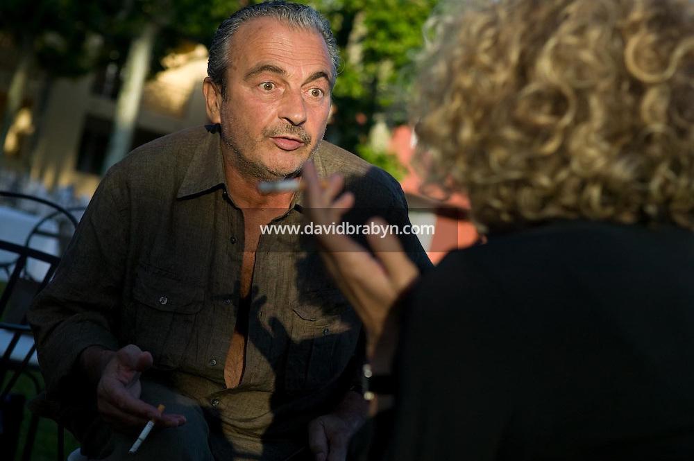 Jacques Nolot (G), Jeanne Labrune, 20 ans de la Fondation Groupama-Gan pour le Cinema, Le Cannet, France, 17 mai 2007.