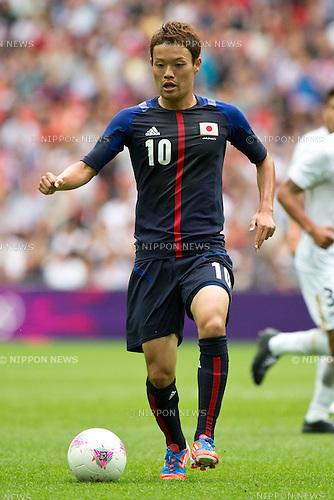 Keigo Higashi (JPN), .AUGUST 7, 2012 - Football / Soccer : .Men's semifinal between match Mexico 3-1 Japan .at Wembley Stadium during the London 2012 Olympic Games in London, UK.. (Photo by Enrico Calderoni/AFLO SPORT) [0391]