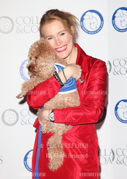 Shauna Lowry arriving for the Collars And Coats Ball, at Battersea Evolution, London. 08/11/2012 Picture by: Alexandra Glen / Featureflash