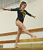 Gillian Murphy of Massapequa performs on the balance beam during a Nassau County varsity gymnastics meet against Bethpage at Jamaica Avenue School in Plainview on Wednesday, Dec. 21, 2016. She scored a meet-high mark of 9.40 in the event and won the all-around with a 36.35.