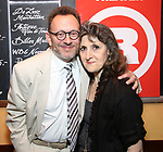 "Michael Emerson and Mary Lou Rosato attends ""The Government Inspector"" Opening Night Party at West Bank Cafe on June 1, 2017 in New York City."