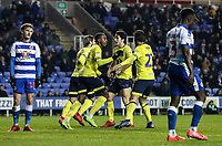 Blackburn Rovers' Amari'i Bell celebrates with his team mates after scoring his side's first goal<br /> <br /> Photographer Andrew Kearns/CameraSport<br /> <br /> The EFL Sky Bet Championship - Reading v Blackburn Rovers - Wednesday 13th February 2019 - Madejski Stadium - Reading<br /> <br /> World Copyright © 2019 CameraSport. All rights reserved. 43 Linden Ave. Countesthorpe. Leicester. England. LE8 5PG - Tel: +44 (0) 116 277 4147 - admin@camerasport.com - www.camerasport.com