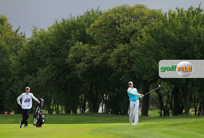Joachim B. Hansen (DEN) on the 1st fairway during Round 4 of the D&amp;D Real Czech Masters 2016 at the Albatross Golf Club, Prague on Sunday 21st August 2016.<br /> Picture:  Thos Caffrey / www.golffile.ie<br /> <br /> All photos usage must carry mandatory copyright credit   (&copy; Golffile | Thos Caffrey)