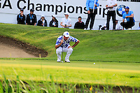 Scott Hend (AUS) on the 18th during round 3 of the 2016 BMW PGA Championship. Wentworth Golf Club, Virginia Water, Surrey, UK. 28/05/2016.<br /> Picture Fran Caffrey / Golffile.ie<br /> <br /> All photo usage must carry mandatory copyright credit (© Golffile   Fran Caffrey)