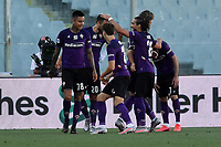 German Pezzella of Fiorentina celebrates with team mates after scoring the goal of 1-1 during the Serie A football match between ACF Fiorentina and Brescia Calcio at Artemio Franchi stadium in Florence ( Italy ), June 22th, 2020. Play resumes behind closed doors following the outbreak of the coronavirus disease. <br /> Photo Antonietta Baldassarre / Insidefoto