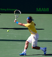 Rafael NADAL (ESP) against David FERRER (ESP) in the fourth round of the men's singles. Rafael Nadal beat David Ferrer 7-6 6-4..International Tennis - 2010 ATP World Tour - Sony Ericsson Open - Crandon Park Tennis Center - Key Biscayne - Miami - Florida - USA - Tue 30th Mar 2010..© Frey - Amn Images, Level 1, Barry House, 20-22 Worple Road, London, SW19 4DH, UK .Tel - +44 20 8947 0100.Fax -+44 20 8947 0117