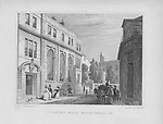 Coopers' Hall, Basinghall Street, engraving from 'Metropolitan Improvements, or London in the Nineteenth Century' London, England, UK 1828