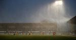 02.03.2019: St Mirren v Livingston: Rain hammering down
