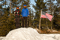 Okpik Northern Tier Winter Adventure - cold-weather adventure program offered by the Boy Scouts of America's Northern Tier National High Adventure Base in Ely, Minnesota.  At OKPIK, Scouts experience a true Northwoods winter: learning how to thrive in subzero temperatures, travel across frozen wilderness lakes.<br /> <br /> Charlotte Photographer - PatrickSchneiderPhoto.com