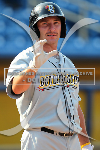 Bowling Green Hot Rods infielder Kyle Spraker during a game vs. the Lake County Captains at Classic Park in Eastlake, Ohio;  August 20, 2010.   Lake County defeated Bowling Green 5-3.  Photo By Mike Janes/Four Seam Images