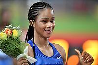 Salwa Eid Naser of Bahrain reacts after winning the women's 400m at the IAAF Diamond League Golden Gala <br /> Roma 06-06-2019 Stadio Olimpico, <br /> Meeting Atletica Leggera <br /> Photo Andrea Staccioli / Insidefoto
